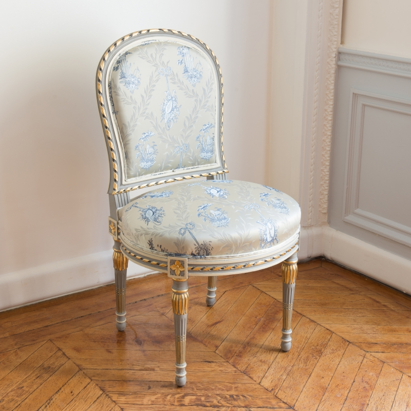 Chair Georges Jacob Desmalter Louis XVI style