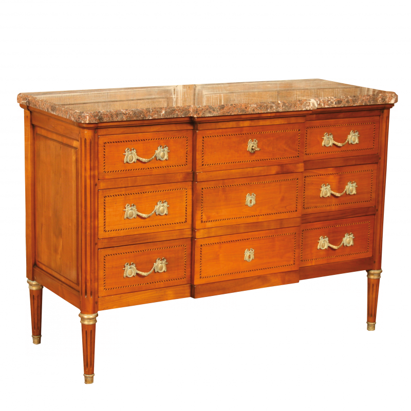 Chest of drawers Delorme marbre Directoire style