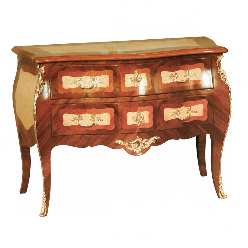 Chest of drawers Quilet Louis XV style