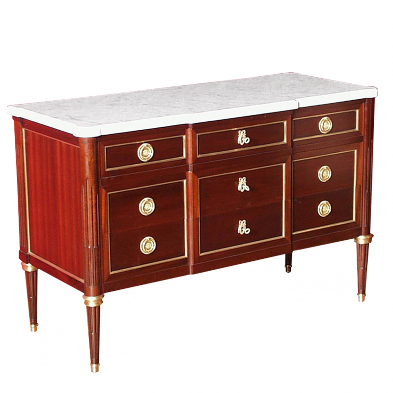 Chest of drawers Lacroix Louis XVI style
