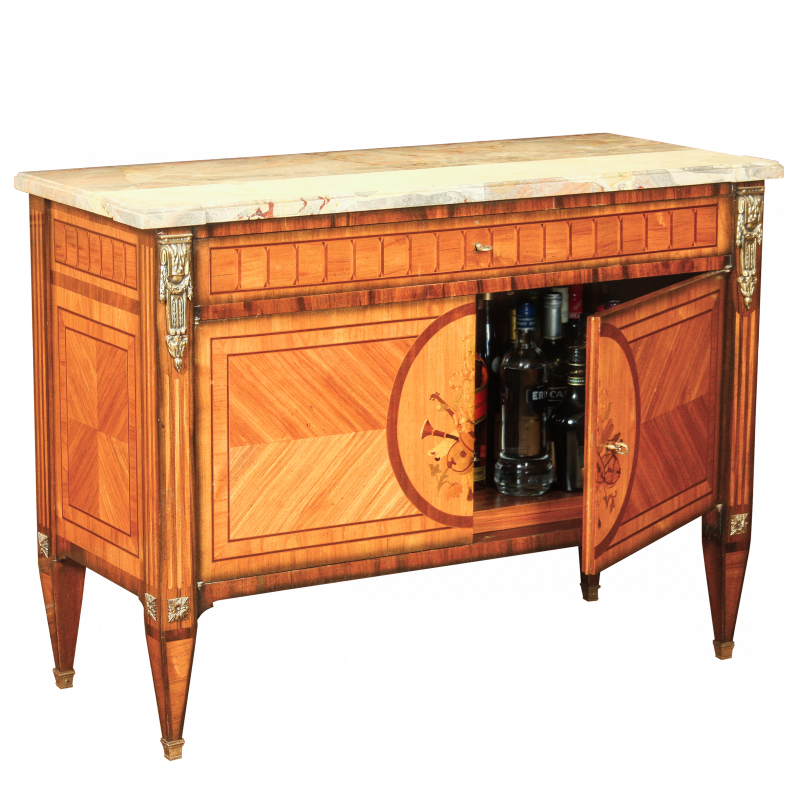Sideboard Caumont with doors Louis XVI style