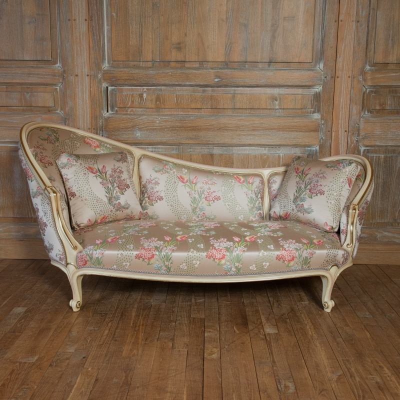 Chair lounge Beaudry Louis XV style