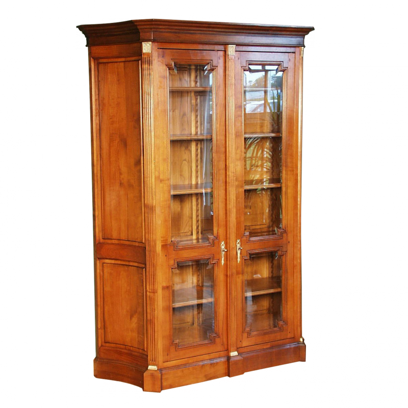 Bookcase - Glass case Diderot Louis XVI style