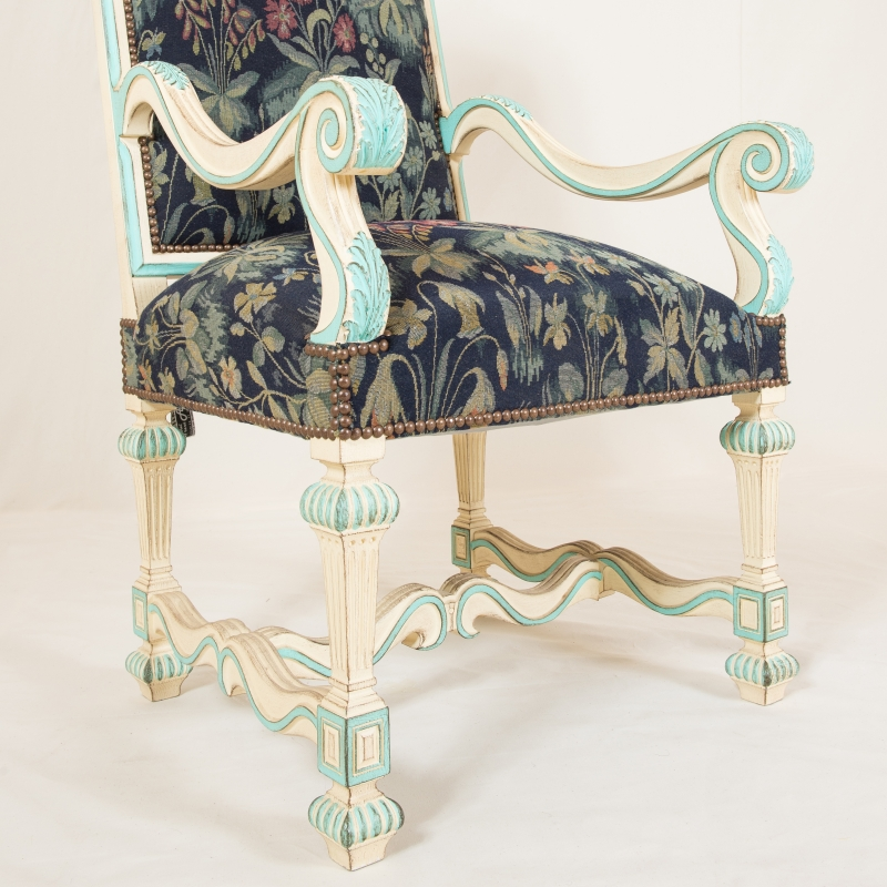 Armchair Sully Louis XIV style