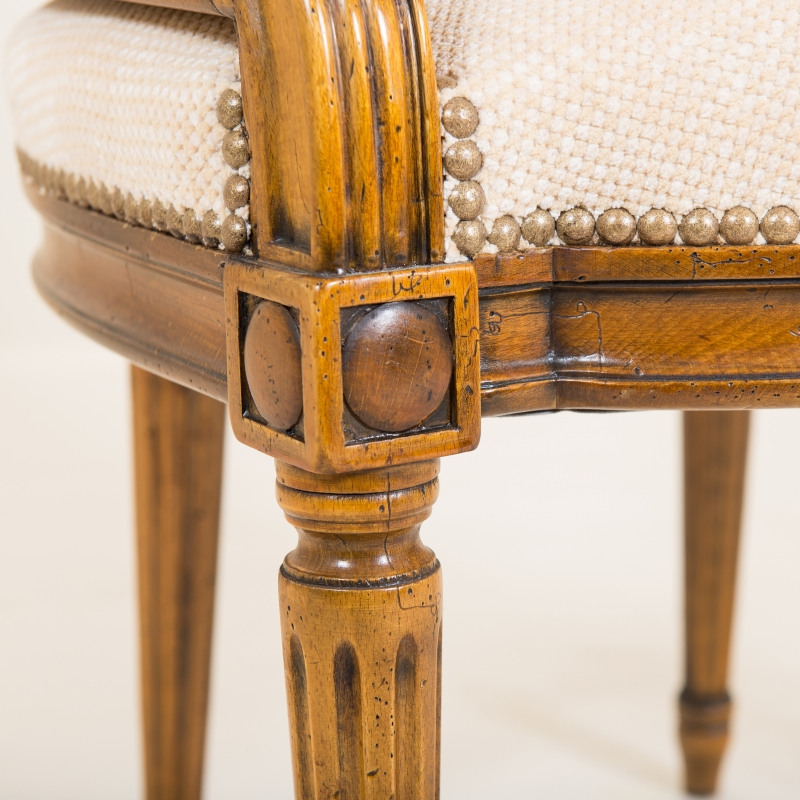 Desk chair Couturier Louis XVI style