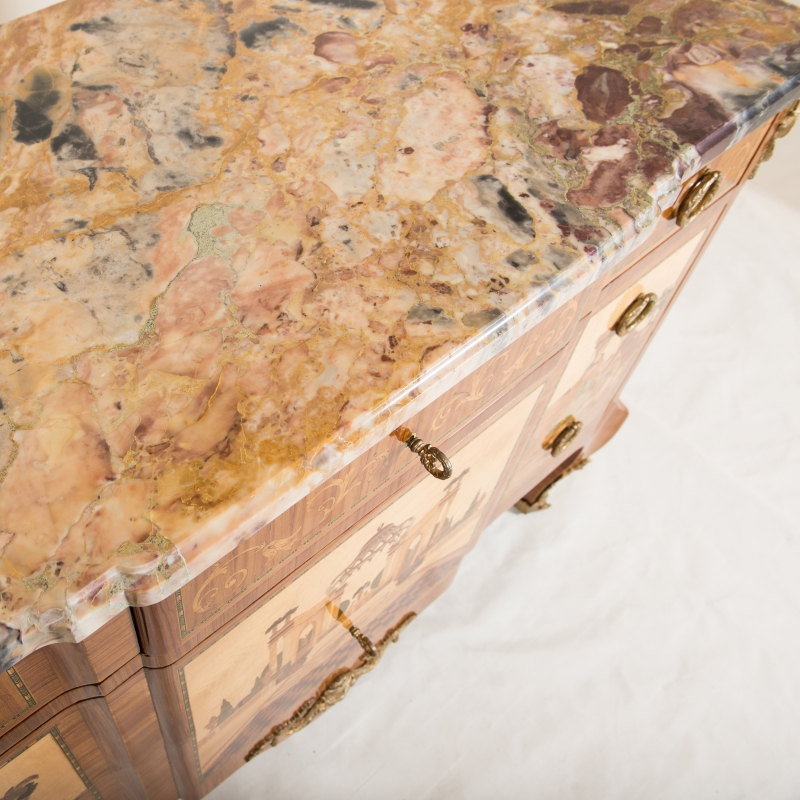 Chest of drawers Schliting Louis XVI style