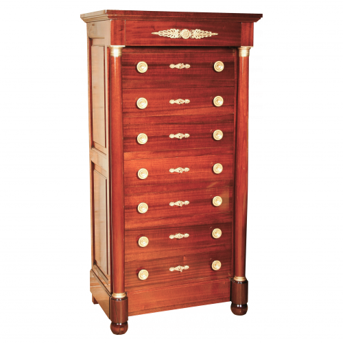 Chest of 7 drawers Napoléonville of Empire style