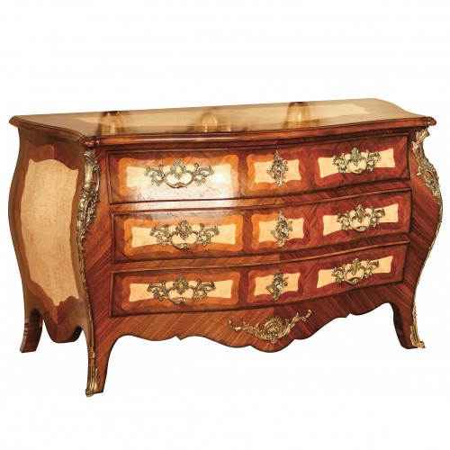 Chest of drawers Hache Louis XV style